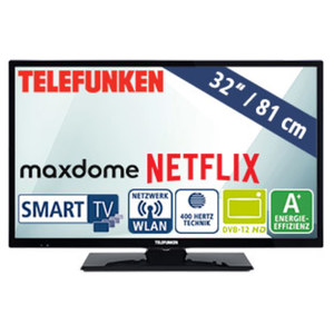 "32""-LED-HD-TV D32H289N4CWI • Auflösung 1.366 x 768 Pixel • HbbTV • 3 HDMI-/2 USB-Anschlüsse, CI+ • Stand-by: 0,5 Watt, in Betrieb: 31 Watt • Maße: H 43,8 x B 73,5 x T 9,0 cm • Energie-"