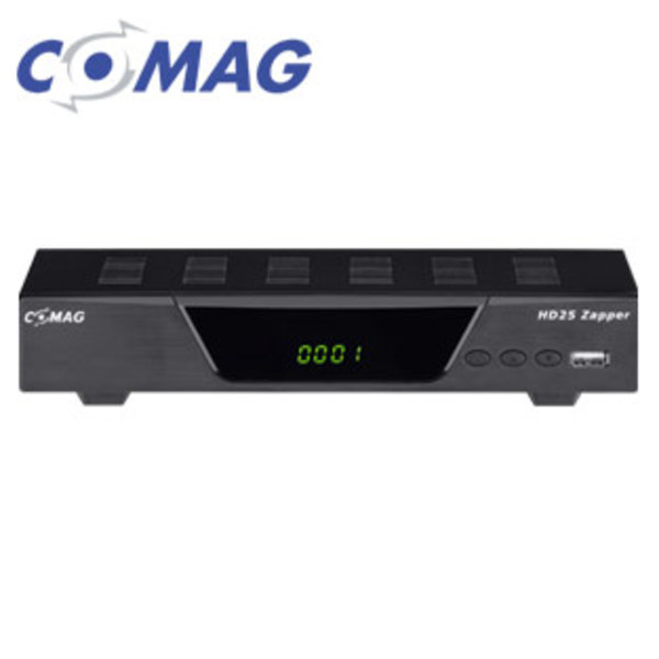 HDTV-Sat-Receiver HD25 Zapper • 4-stelliges Display, EPG, DiSEqC® 1.2 • Einkabel-System, HDMI-/Scart-/USB-Anschluss