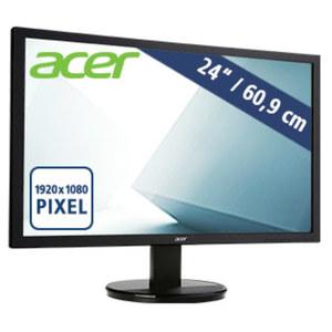 Full-HD Monitor K242HLbd · LED-Display · lebensechte Farben · Reaktionszeit 5 ms · ergonomischer Standfuß · VGA, DVI
