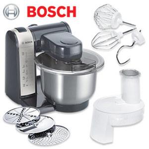 Küchenmaschine MUM48A1 • 3-D-Rührsystem • 4 Schaltstufen • hochwertiges Pâtisserie-Set (Schlag-, Rührbesen, Knethaken) • Durchlaufschnitzler mit 3 Scheiben