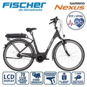 Ergo-Comfort E-Bike ECU 1863 - Fahrunterstützung bis ca. 25 km/h - Li-Ionen-Akku mit hochwertigen Markenzellen 48 V/8,8 Ah, 422 Wh - Reichweite: bis ca. 120 km (je nach Fahrweise) - wartungsfreier M
