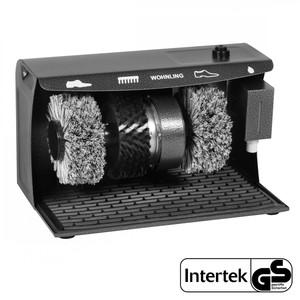 Wohnling Schuhputzmaschine elektrisch - 3 Bürsten System (Schuhputzautomat Schuhputzer)