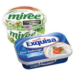 Exquisa Frischkäse oder Exquisa-Scheiben 70 % Fett i. Tr./0,8 % Fett absolut, versch. Sorten,    jede 200/175/125-g-Schale/Packung