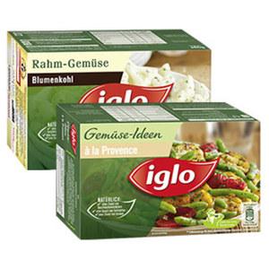 Iglo Gemüse-Ideen oder Rahm-Gemüse gefroren,  jede 480-g-Packung und weitere Sorten
