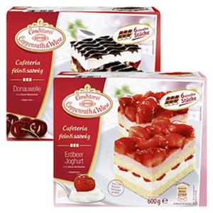 Coppenrath & Wiese Cafeteria fein & sahnig Eierlikör Blechkuchen gefroren, jede 435-g-Packung und weitere Sorten