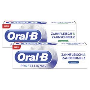 Oral-B Professional Zahncreme  Zahnfleisch + Zahnschmelz versch. Sorten, jede 75-ml-Packung