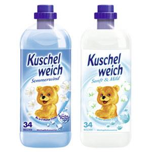 Kuschelweich Weichspüler 33 Waschladungen, versch. Sorten, jede Flasche