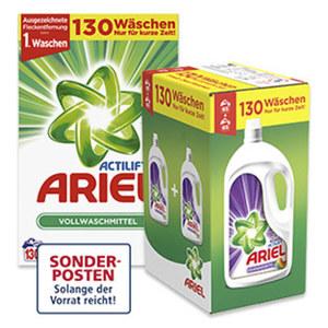 Ariel Waschmittel 130/105 Waschladungen versch. Sorten, jede Packung