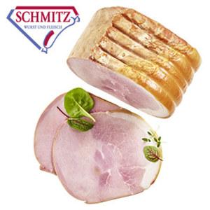 GS Schmitz Klosterschinken schonend gegart, traditionell dunkel geräuchert, je 100 g