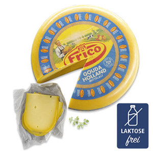 Frico Gouda mittelalt Holländischer Schnittkäse, 48 % Fett i. Tr., je 100 g