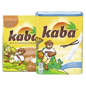 Kaba Kakao oder Kaba Fruchtgetränk versch. Sorten, jeder 500-g-Nachfüllbeutel/jede 400-g-Dose