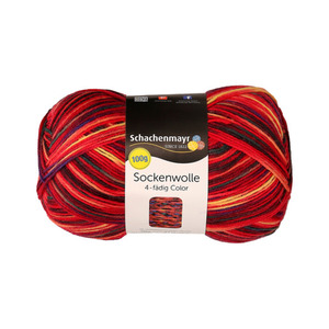 "Schachenmayr Sockenwolle ""Color"" in Rot 100 g"