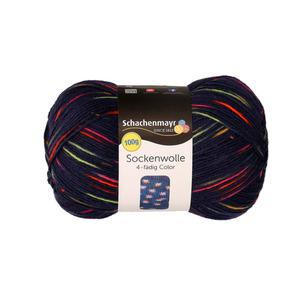 """Schachenmayr Sockenwolle """"Color"""" in Dunkel mit Akzenten 100 g"""