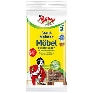 """Poliboy Möbel Feuchttücher """"Staubmeister"""""""