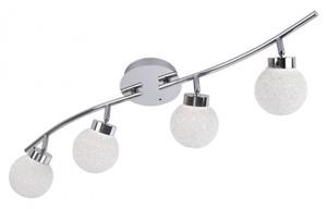 LED-Deckenleuchte 4 Kugeln Länge 75 cm