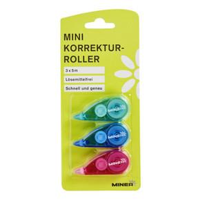 Minea Korrekturroller ''Mini'' 3 Stück, je 5 mm x 5 m