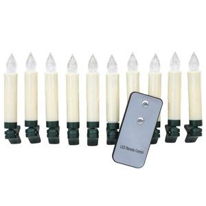 LED-Lichterkette kabellos mit 10 Kerzen
