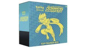 Pokémon Sammelkartenspiel - Top-Trainer-Box der Erweiterung Sonne & Mond – Echo des Donners