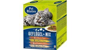 Pet Bistro Katzennassfutter - Variationen in Sauce Geflügel-Mix 12 Beutel