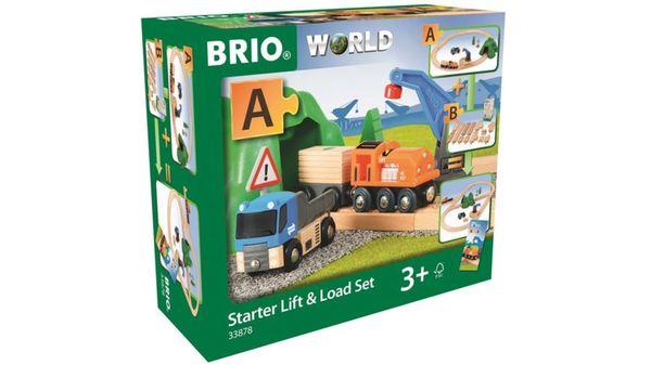 BRIO Bahn - Starterset Güterzug mit Kran