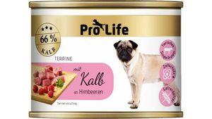 Pro Life Hundenassfutter - Terrine mit Kalb an Himbeeren