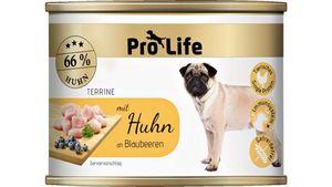 Pro Life Hundenassfutter - Terrine mit Huhn an Blaubeeren