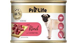 Pro Life Hundenassfutter - Terrine mit Rind an Cranberries