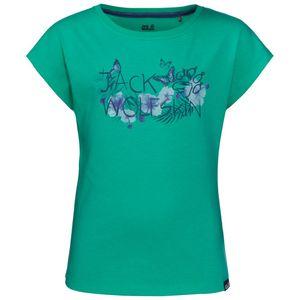 Jack Wolfskin T-Shirt Mädchen Brand T-Shirt Girls 128 grün