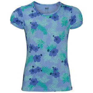 Jack Wolfskin T-Shirt Mädchen Yuba T-Shirt Girls 128 blau