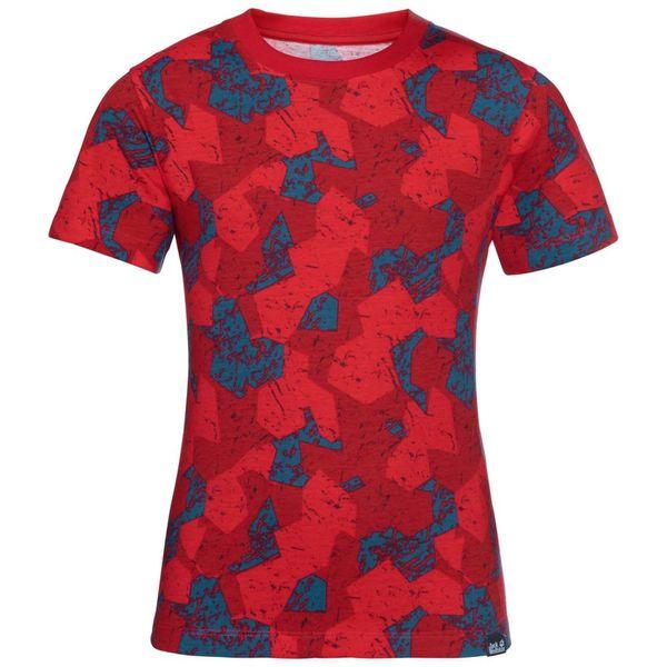 Jack Wolfskin T-Shirt Jungen Marble T-Shirt Boys 128 rot