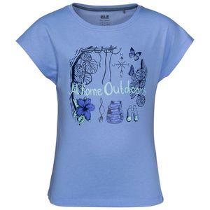 Jack Wolfskin T-Shirt Mädchen Brand T-Shirt Girls 116 blau