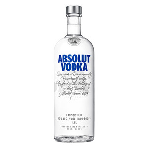 Absolut Vodka 40%  Vol. 1,5L