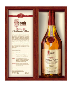 Asbach Jubiläums-Edition 125 Jahre Streng Limitiert nur 1.892 Flaschen Weltweit!