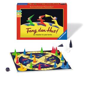 Ravensburger Klassiker Fang Den Hut!, Würfellaufspiel, Würfelspiel, Klassiker, Brettspiel, Gesellschaftsspiel, Familien Spiel, 26736 1
