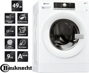 Bauknecht Waschmaschine 9 Kg Waschvollautomat Direktantrieb Bürstenl. Motor A+++