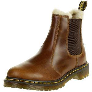 Dr. Martens 2976 23898243 Damen Leonore Butterscotch Orleans Braun Chelsea Boot Warmfutter, Groesse:38 EU / 5 UK / 7 US