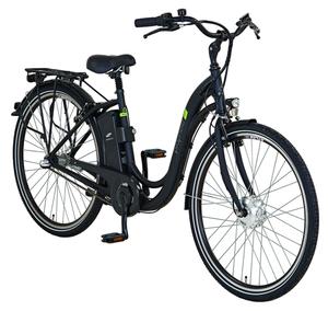 Prophete Alu-Elektro-City-Bike 26er, Schwanenhals-Rahmen, Rahmenhöhe 46 cm - Farbe: graphit grau matt