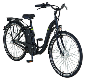 Prophete Alu-Elektro-City-Bike  28er, Schwanenhals-Rahmen, Rahmenhöhe 46 cm, Farbe: graphit matt