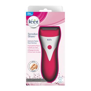 Veet Sensitive Shave Vorteilspack Elektrischer Rasierer inkl. Ersatz-Scherkopf