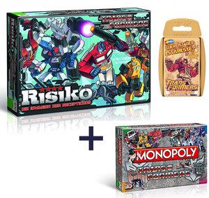 Monopoly Transformers + Risiko Transformers + Top Trumps Transformers Brettspiel Gesellschaftsspiel Set