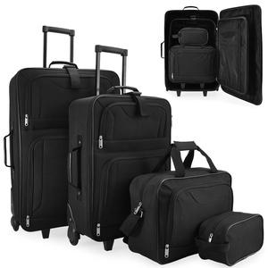 DEUBA Kofferset Trolley | 4 Rollen | Telekopgriff | Tragegriff | Klickgurt System | Reisetaschen Set