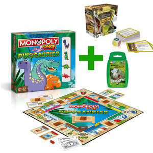 Trivial Pursuit Dinosaurier + Monopoly Dinosaurier + Top Trumps Dinosaurier Brettspiel Gesellschaftsspiel Set