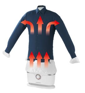 CLEANmaxx Bügler für Hemden & Blusen in Weiß/Silber - 1800 Watt