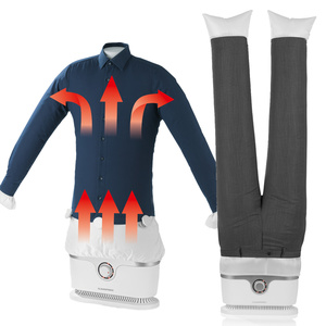 CLEANmaxx Bügler 1800W silber/weiß für Hemden,Blusen & Bügler-Aufsatz für Hosen