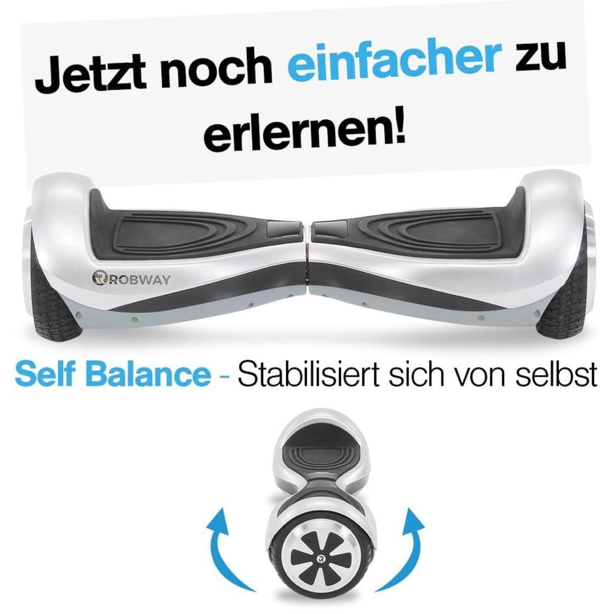 Bild 2 von Hoverboard ROBWAY Q1 E-Balance Board Scooter Elektro Roller Smart Self Balance (Light Silver)