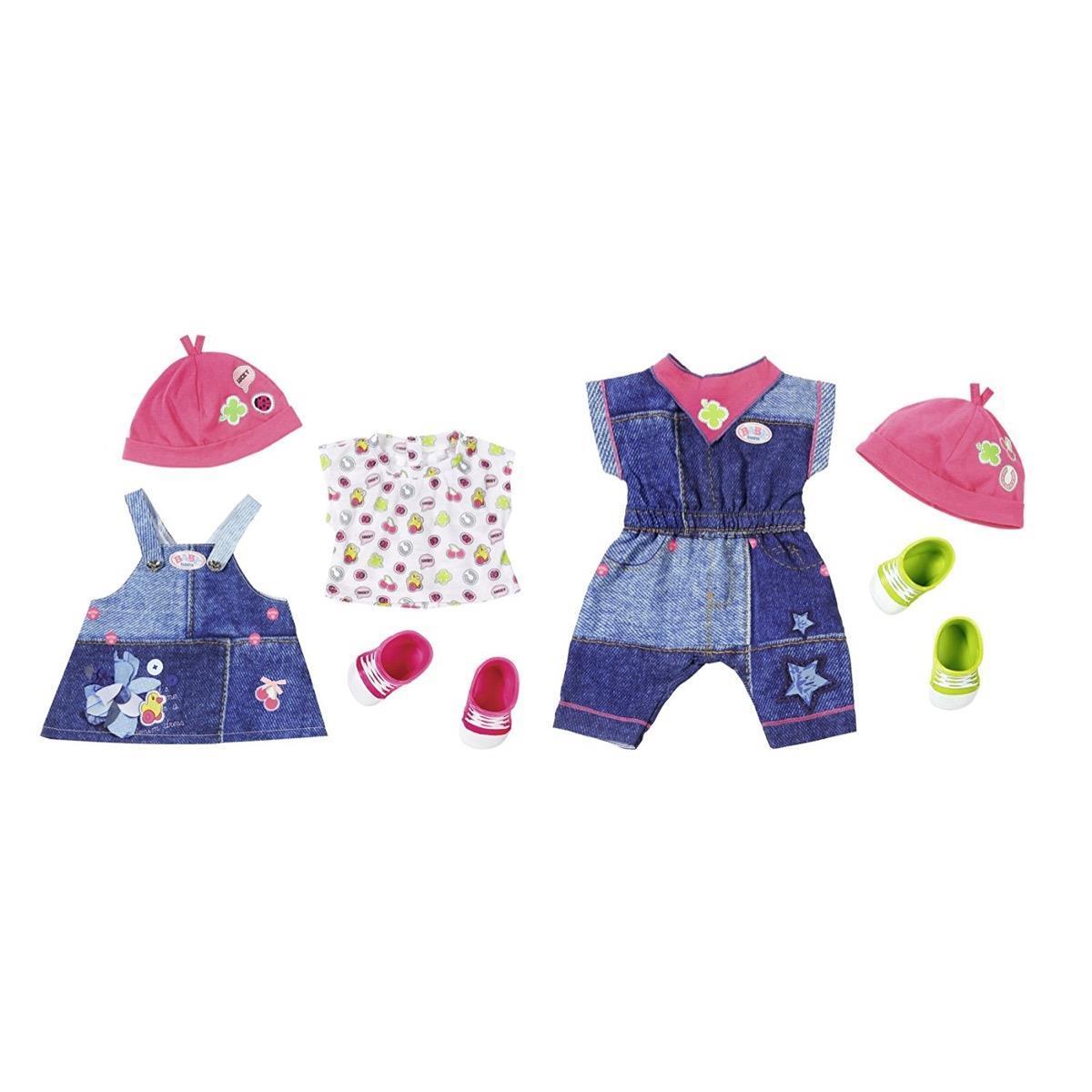 Bild 1 von 1 Set BABY born Deluxe Jeans Collection, Puppen-Kleiderset, 3 Jahr(e), Mehrfarben, 43 cm, Mädchen, 43 cm, 2-fach sortiert