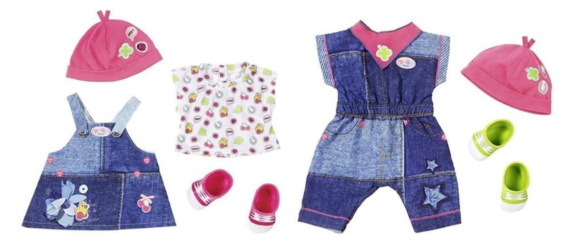 Bild 2 von 1 Set BABY born Deluxe Jeans Collection, Puppen-Kleiderset, 3 Jahr(e), Mehrfarben, 43 cm, Mädchen, 43 cm, 2-fach sortiert