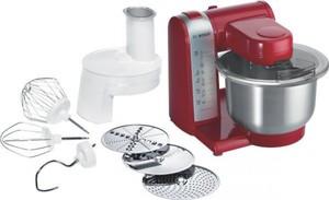 Bosch MUM 48R1 Multifunktions Küchenmaschine rot/silber