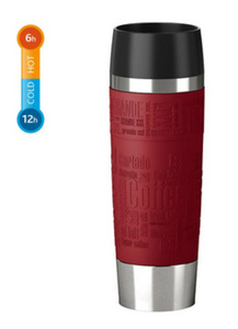 Emsa Isolierbecher Travel Mug Grande 500 ml, Farbe Rot