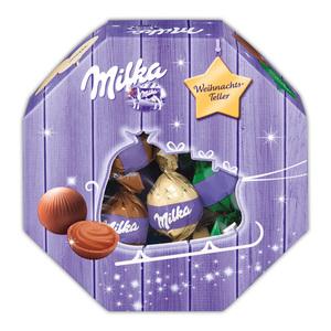 Milka Weihnachts-Teller